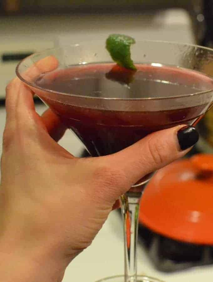 Sparkling Blackberry Martini