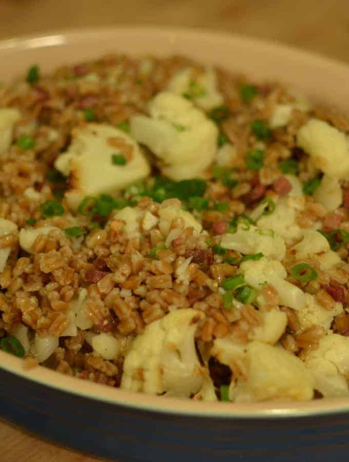 Farro with Coppa & Cauliflower