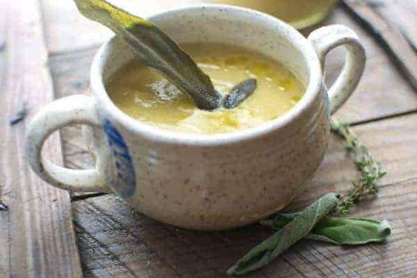 White Bean + Parsnip Soup