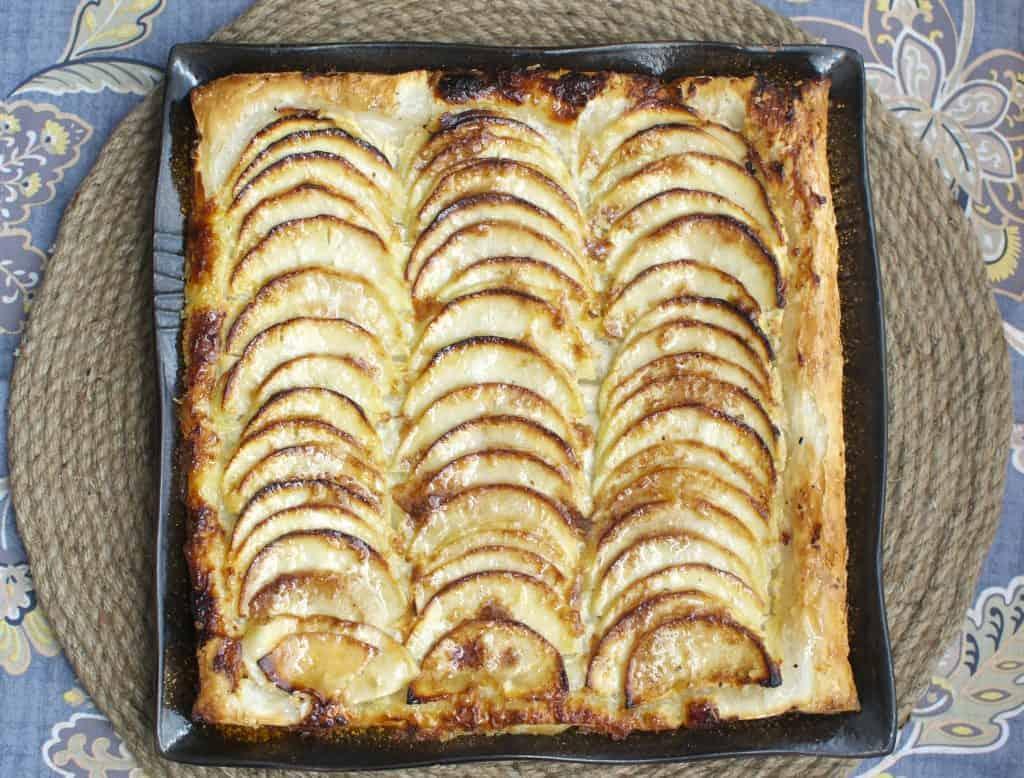 Apple & Honeyed Goat Cheese Galette