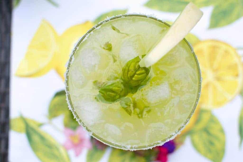Melon-Basil Margarita