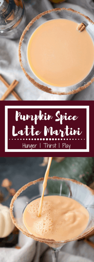 The sweet pumpkin and cinnamon spice flavors of your favorite latte transformed into a creamy cocktail!  An easy way to sip into fall.