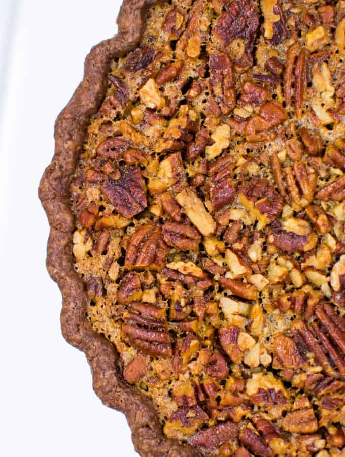 Bourbon Pecan Pie (with Chocolate Crust)