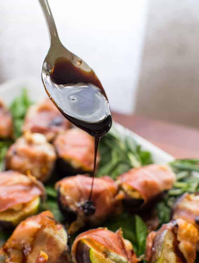 Prosciutto & Gorgonzola Wrapped Figs