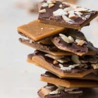stack of buttercrunch toffee