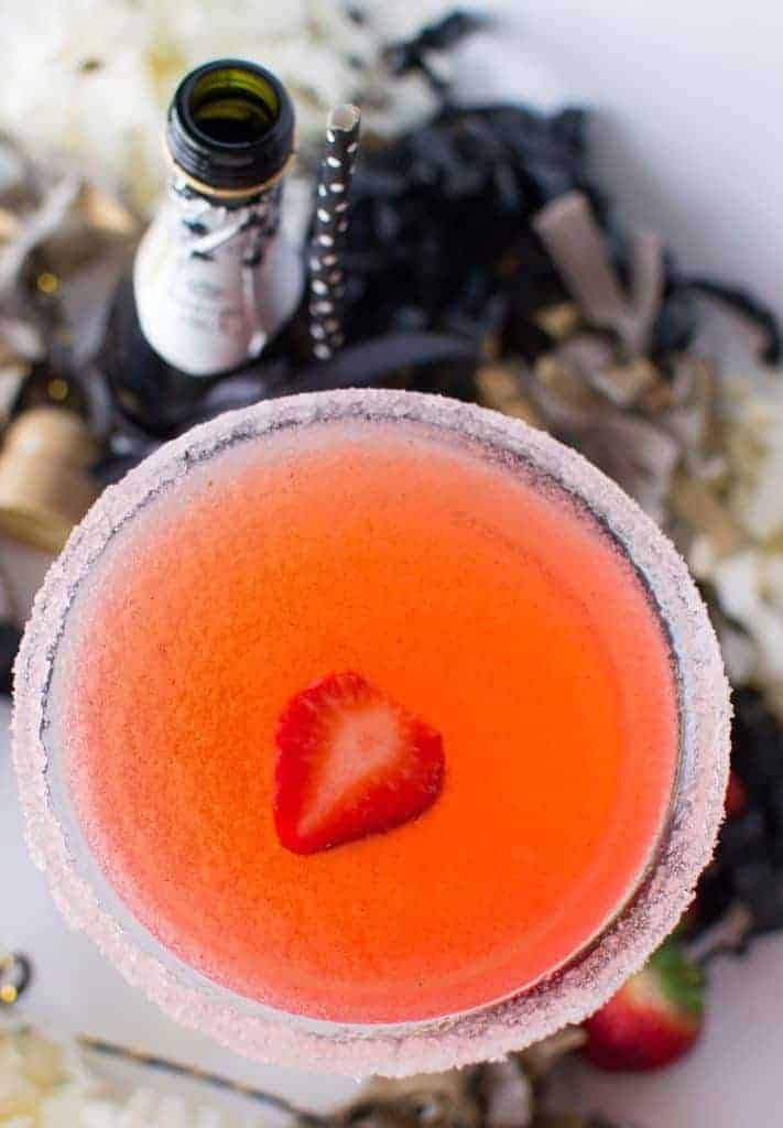 Sparkling Strawberry Martini - bursting with strawberry flavor and just the right amount of fizz!