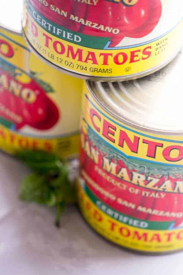 San Marzano tomatoes for pomodoro sauce