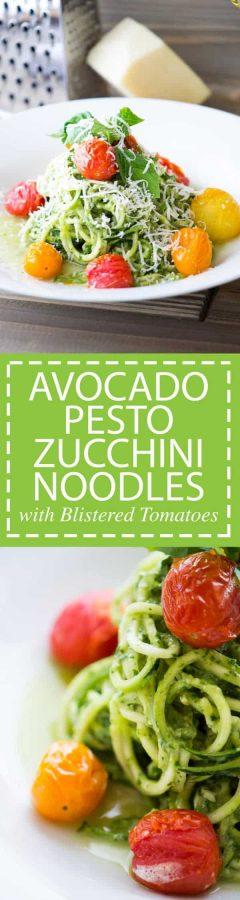 Avocado Pest Zucchini Noodles