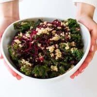 Beets & Blue Kale Crunch Salad