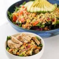 Grilled Corn Salad | Creamy Avocado Dressing