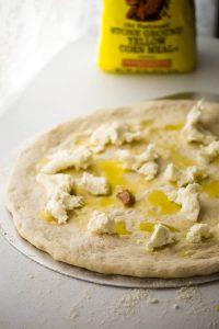 White Pizza with Prosciutto & Blue Cheese