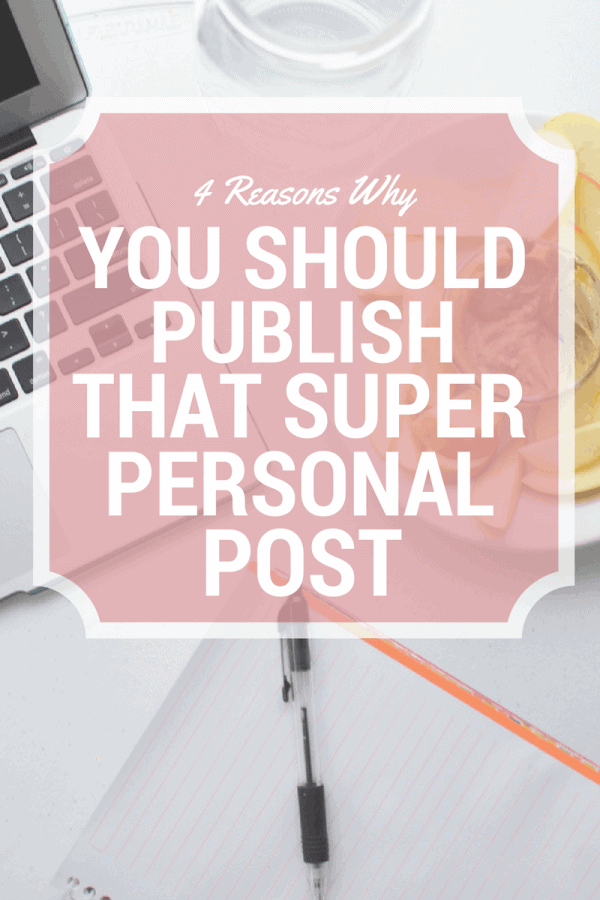 You should publish that personal post
