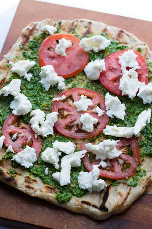 Kale & Spinach Pesto Grilled Flatbread