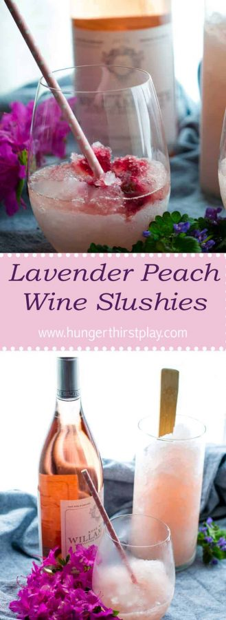 Lavender Peach Wine Slushies