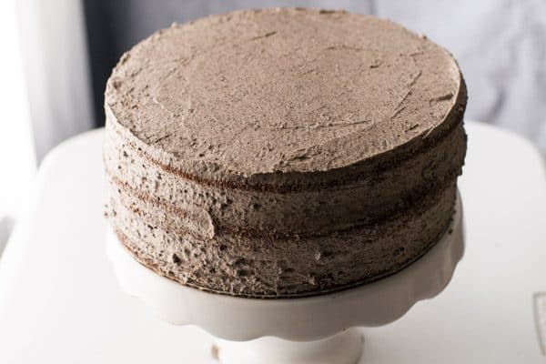 Three Layer Chocolate Oreo Cake