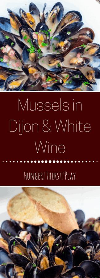 Mussels in Dijon & White Wine