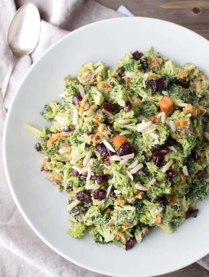 Endless Summer Broccoli Salad | Avocado Dressing