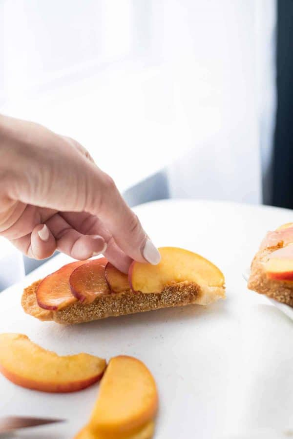Peach & Burrata Toasts