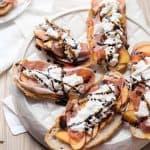 Peach & Burrata Toasts
