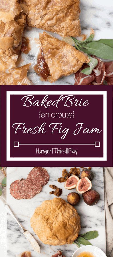 Creamy, melty brie cheese and fresh, sweet fig jam baked in puff pastry. Perfect for an appetizer or dessert...or a guilty sweet and savory cheese sandwich!