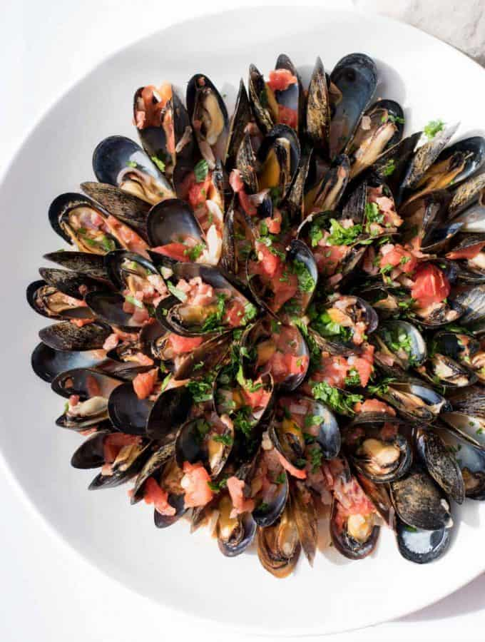 Spicy Mussels Fra Diavolo