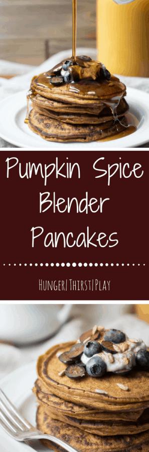 Pumpkin Spice Blender Pancakes
