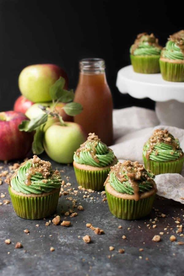 Caramel Apple Cider Cupcakes