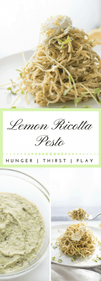 Lemon Ricotta Pesto