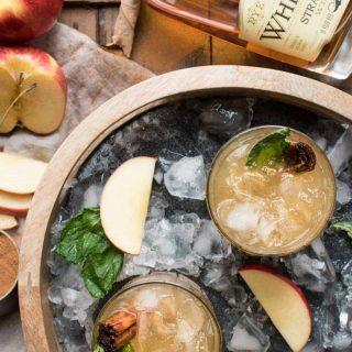Apple Cinnamon Whiskey Smash