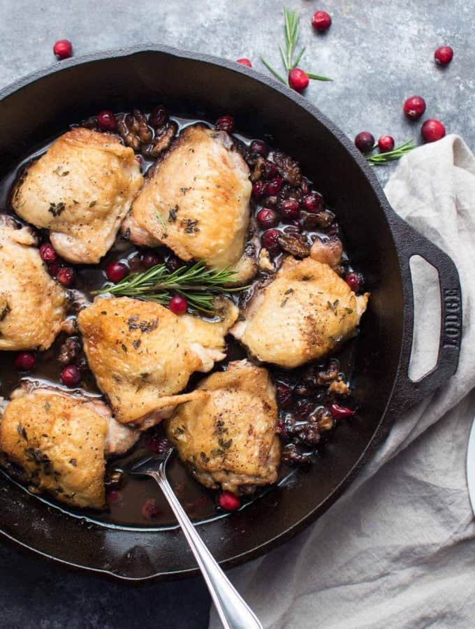 Cranberry Walnut Chicken Thighs