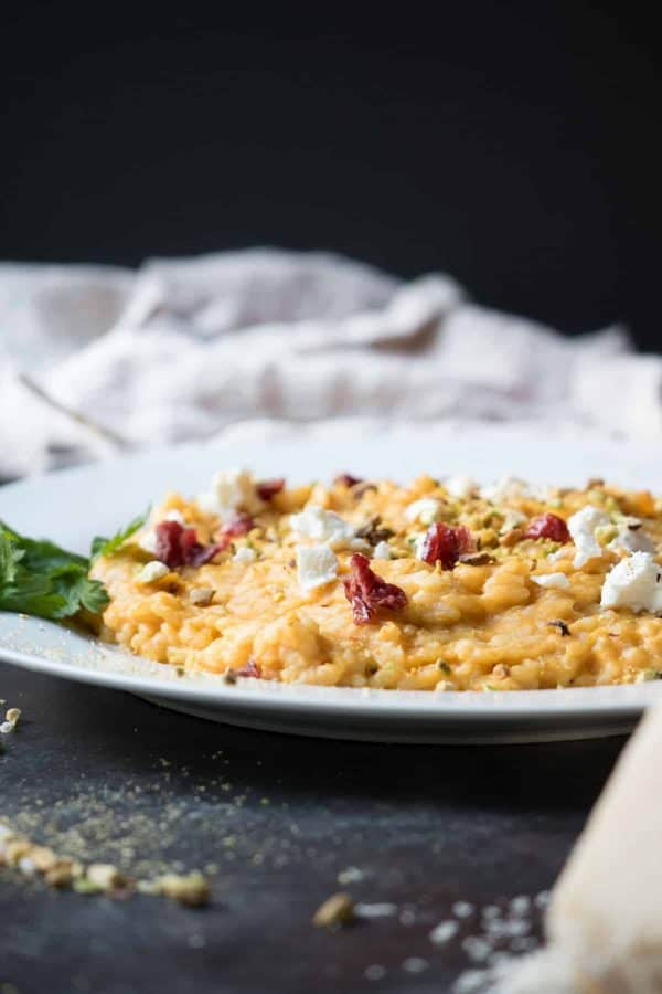 Oven Baked Pumpkin Risotto