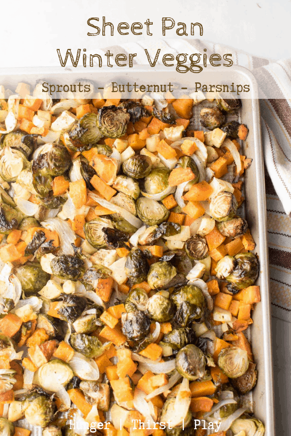 Easy to prep, simple to make.  Sheet Pan Winter Veggies are great for entertaining or meal prepping throughout the fall and winter seasons.