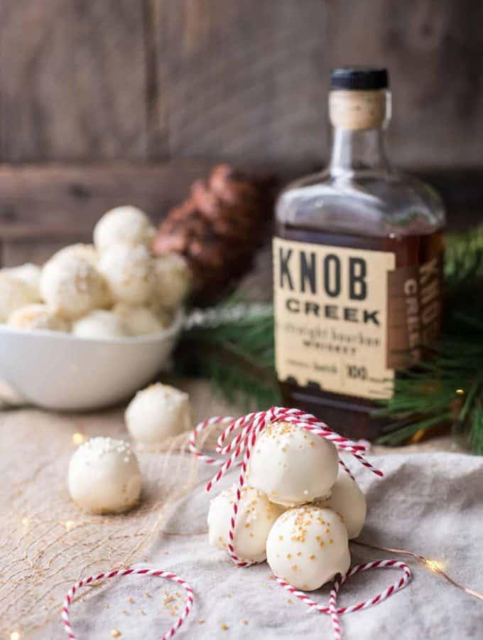 Bourbon White Chocolate Truffles