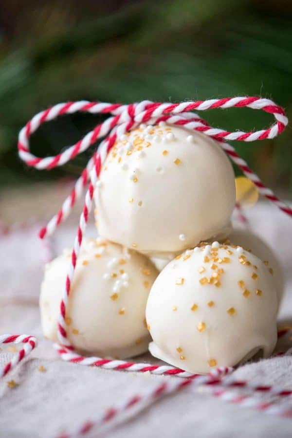 Bourbon White Chocolate Truffles