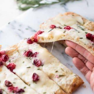 Creamy Cranberry Brie Flatbread