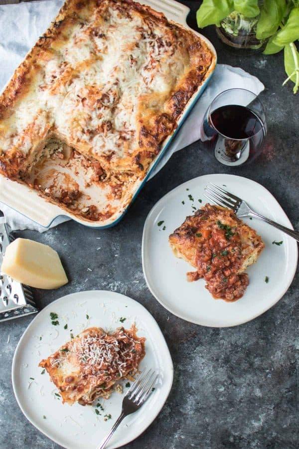 Fresh Herb Lasagna Bolognese