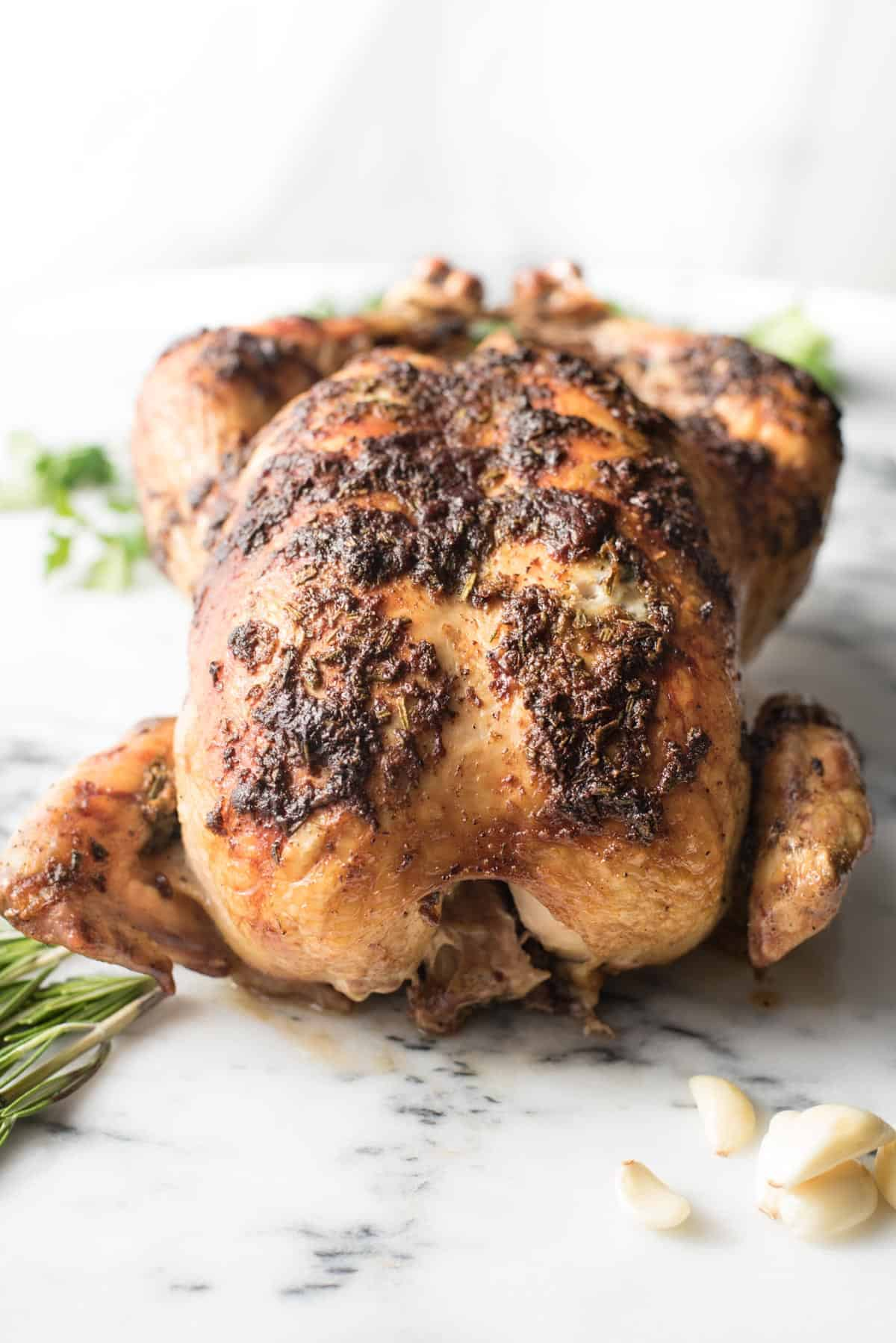 Juiciest Garlic Rosemary Roasted Chicken