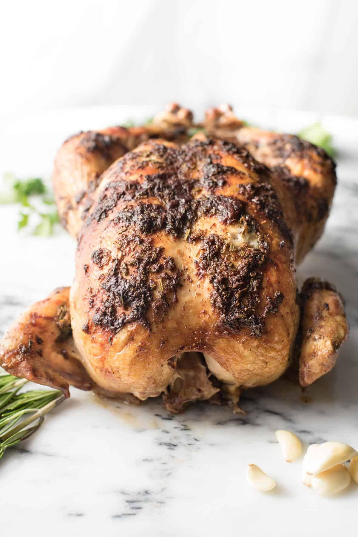 Juiciest Garlic Rosemary Roasted Chicken