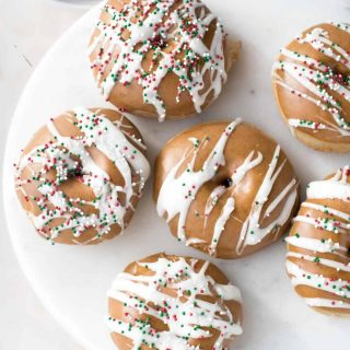 Fluffy baked gingerbread doughnuts