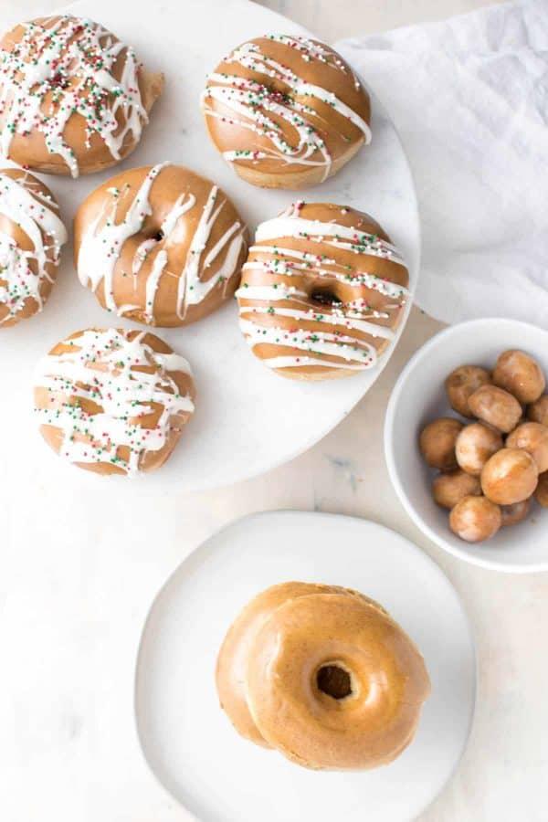 Fluffy Gingerbread Doughnuts