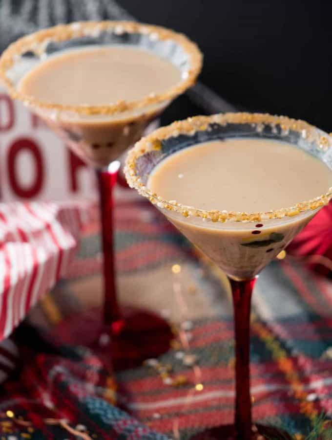 Spicy + Sweet Gingerbread Martini