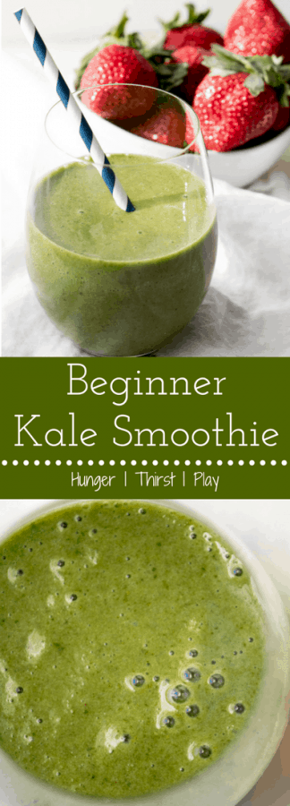 Beginner Kale Smoothie | Naturally sweet, flavorful and packed with superfood kale without the bitter greens taste!