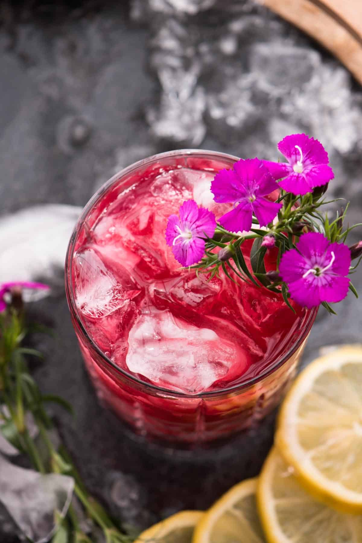 Tropical Hibiscus Bourbon Cocktail Hungerthirstplay