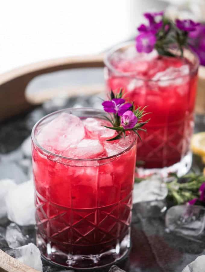 Tropical Hibiscus Bourbon Cocktail