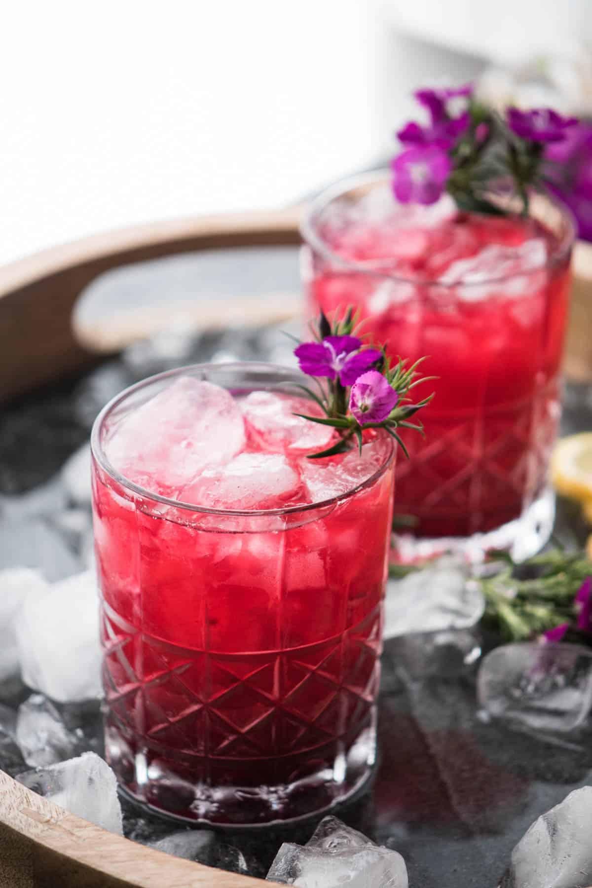 Hibiscus Bourbon Cocktail
