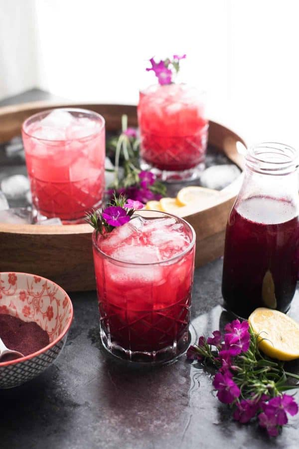 Hibiscus Bourbon Cocktail