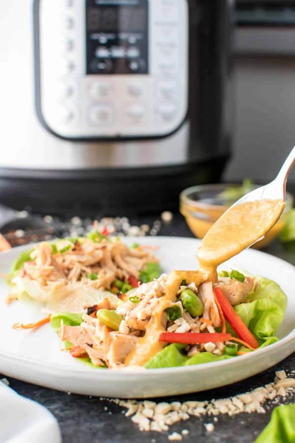 Instant Pot Pad Thai Chicken Lettuce Wraps