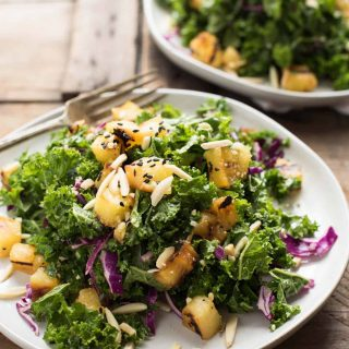 Grilled Pineapple Kale Salad