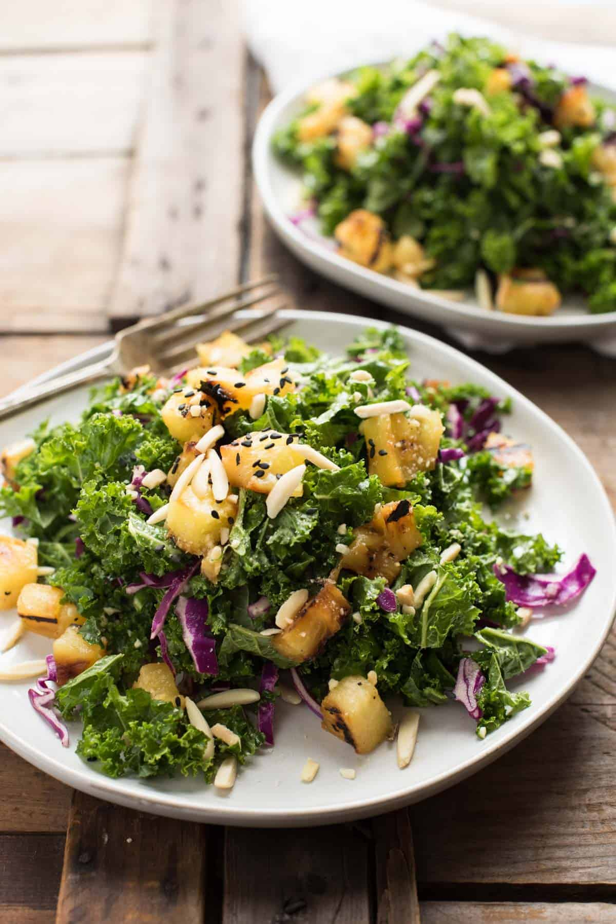 Grilled Pineapple Kale Salad