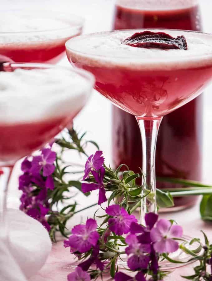 Sweet Beet + Gin Martini